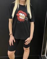 Lipstick love shorts set