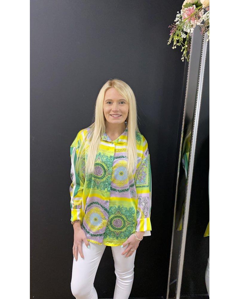 Suki scarf print shirt