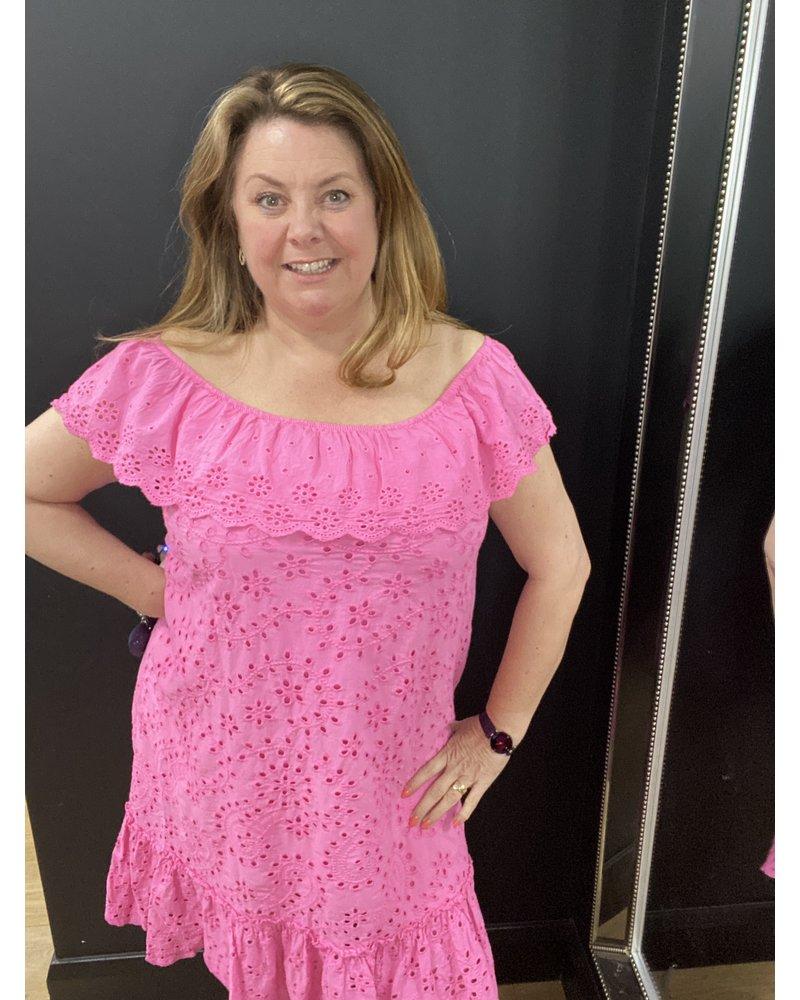 Angelica broderie anglais Bardot dress