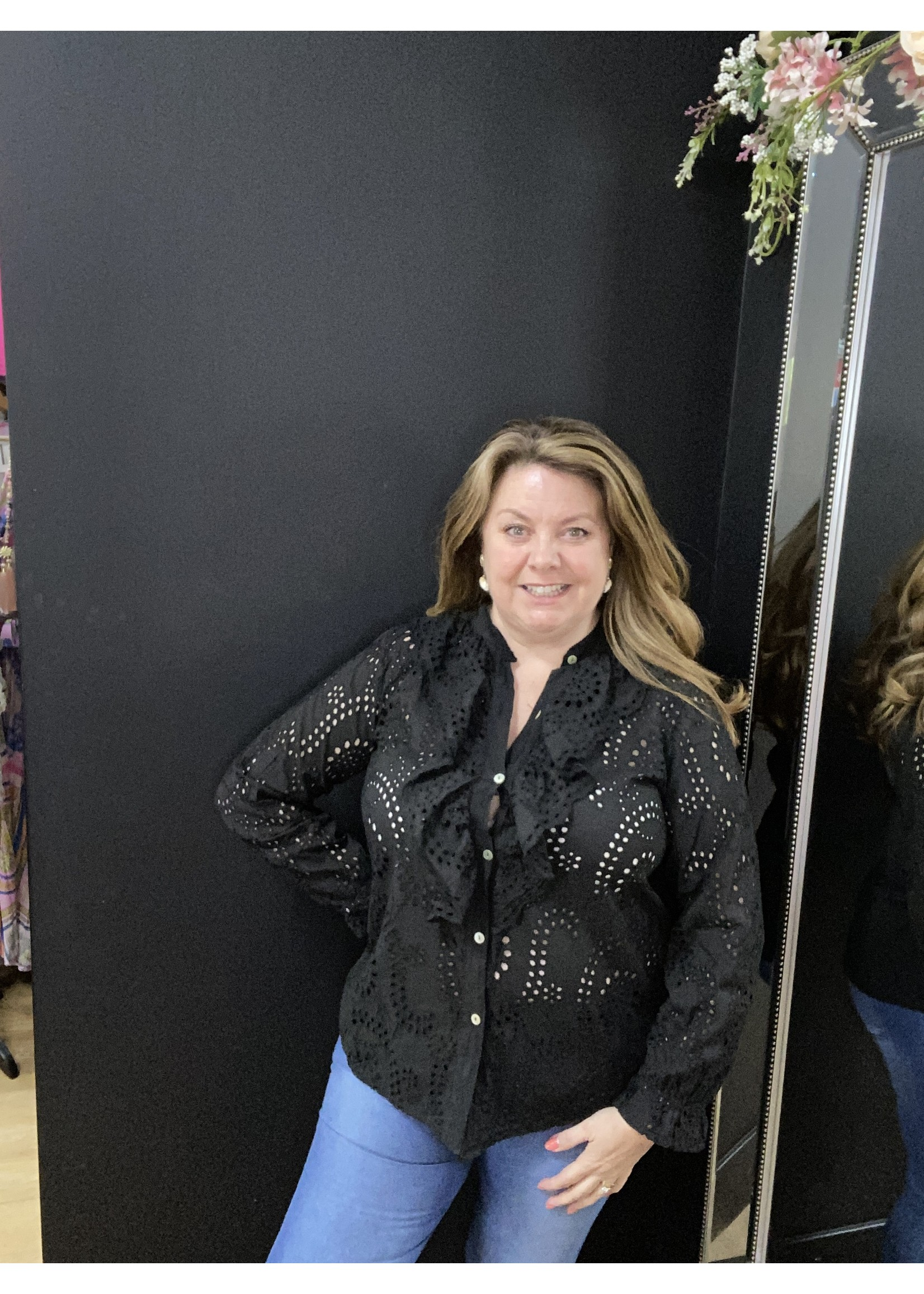 Christie Anglais ruffle shirt