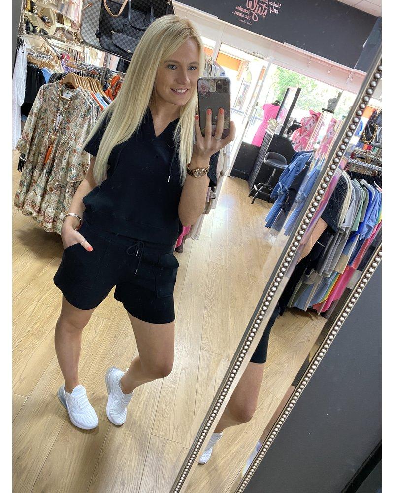 Sherri shorts and hooded top set