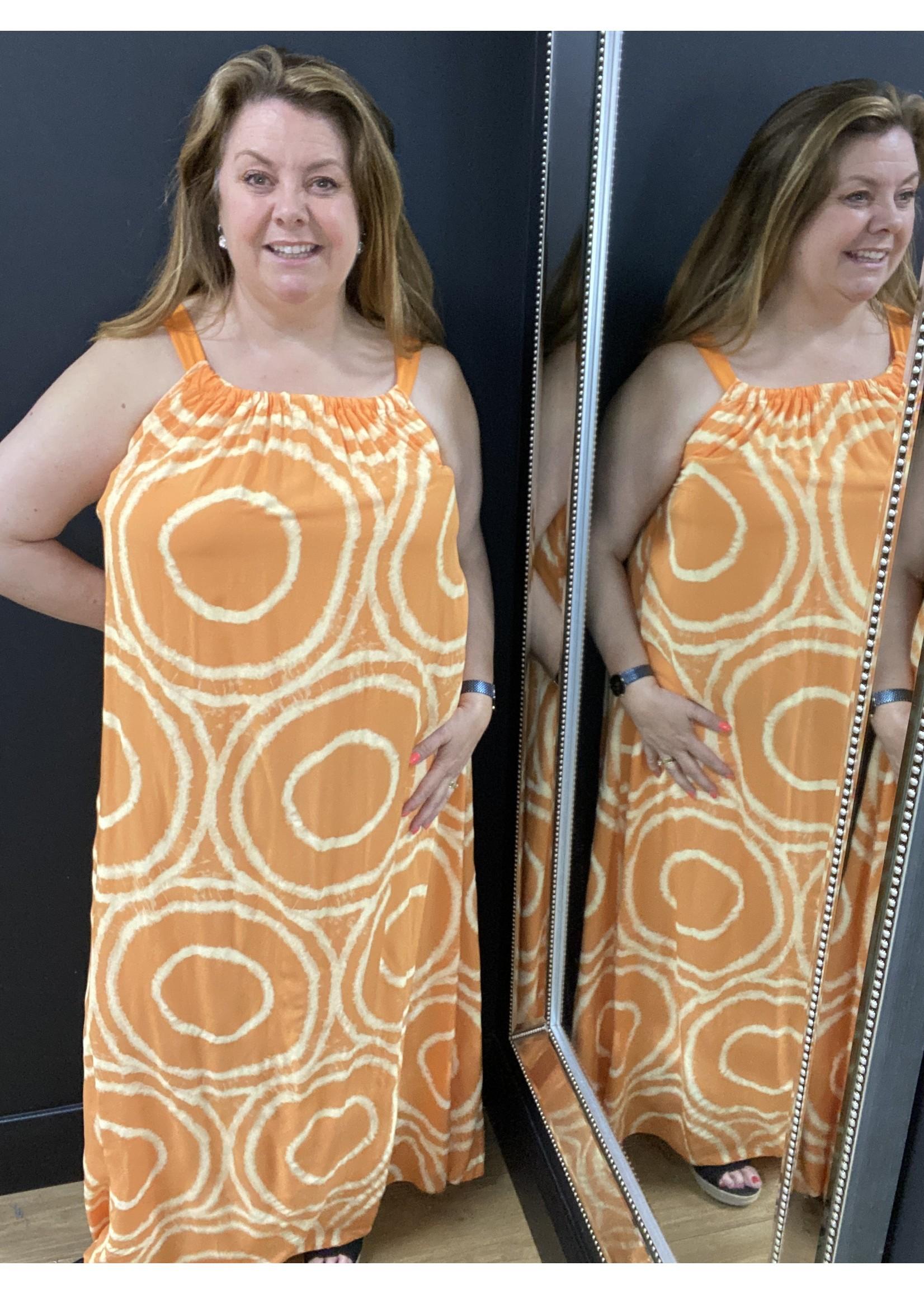 Circle print summer dress