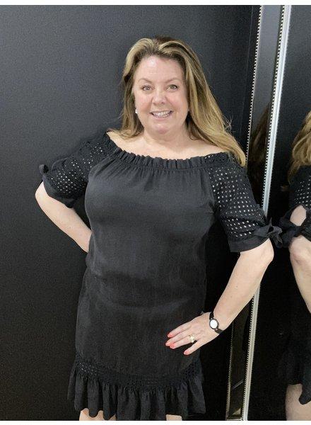 Maree Bardot tie sleeve dress