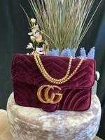 Gianni velvet shoulder bag