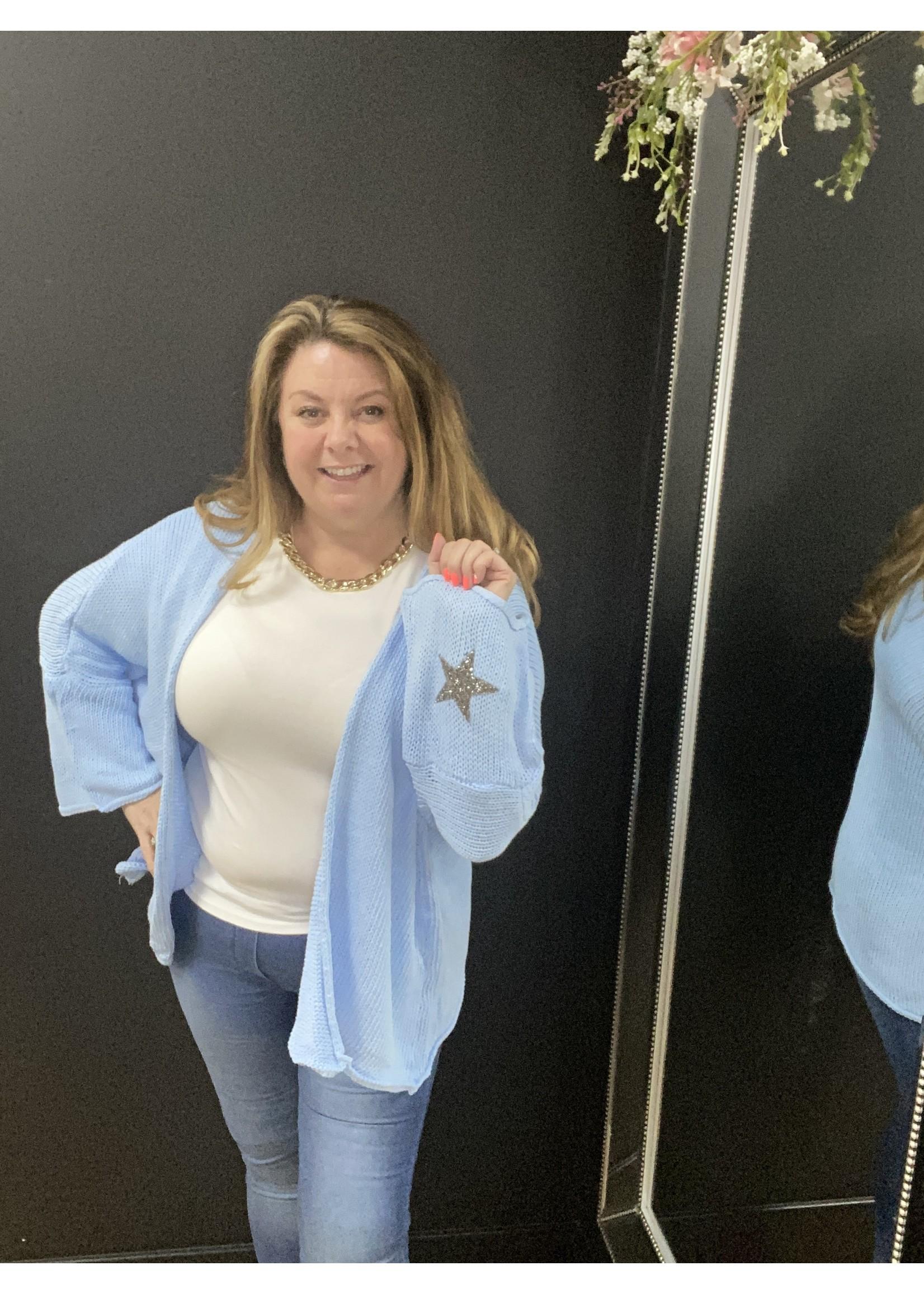 Celeste flat star cardigan