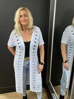 Colette fine crochet long cardigan