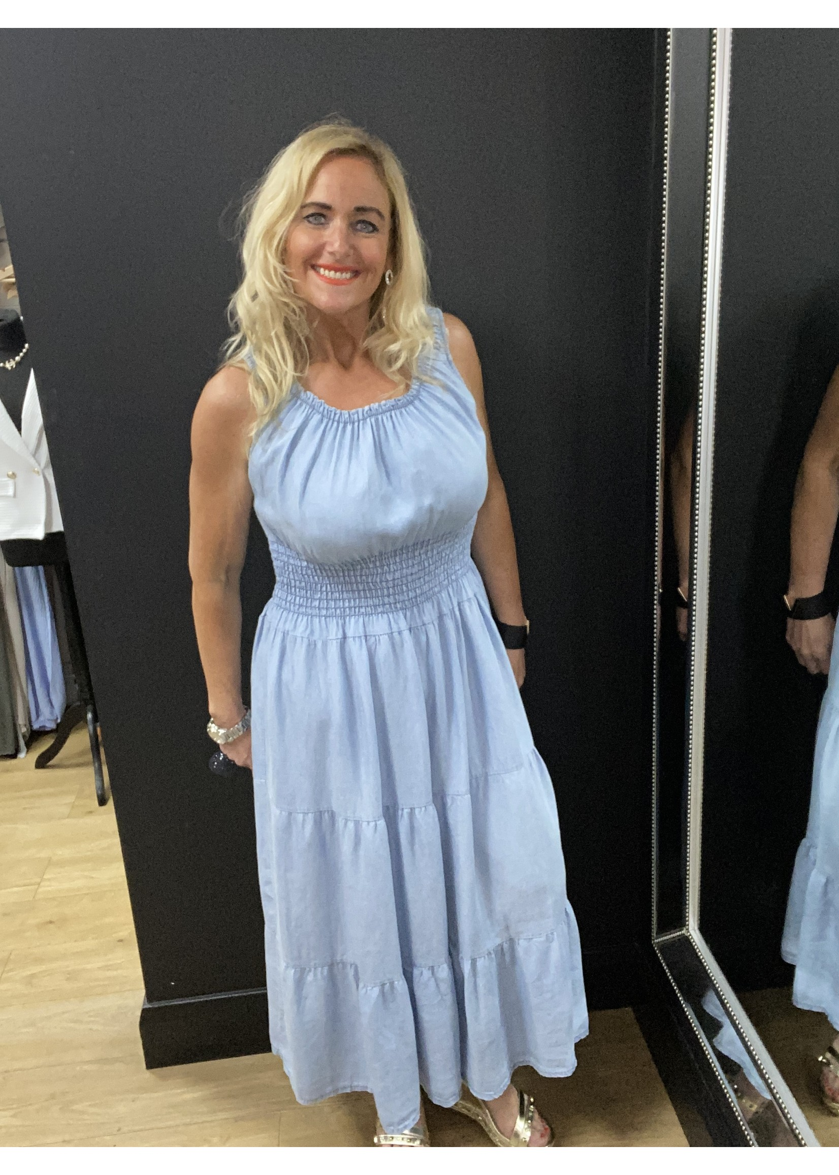 Erin soft denim maxi  dress
