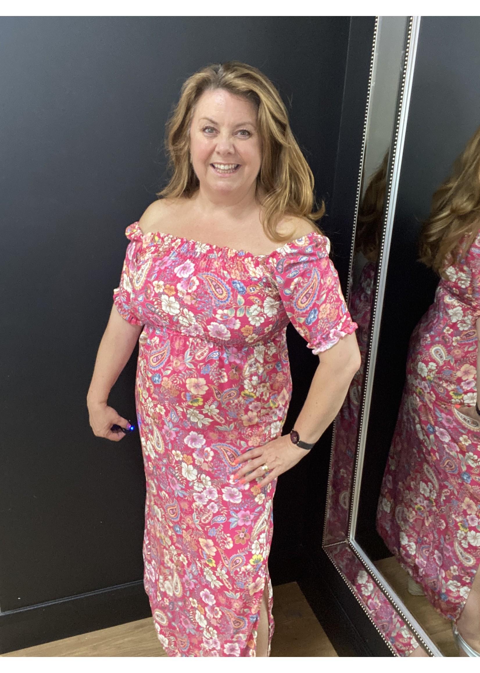 Flora elasticated bodice dress