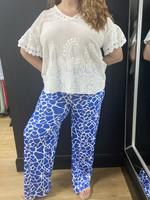 Gigi giraffe print palazzo pants