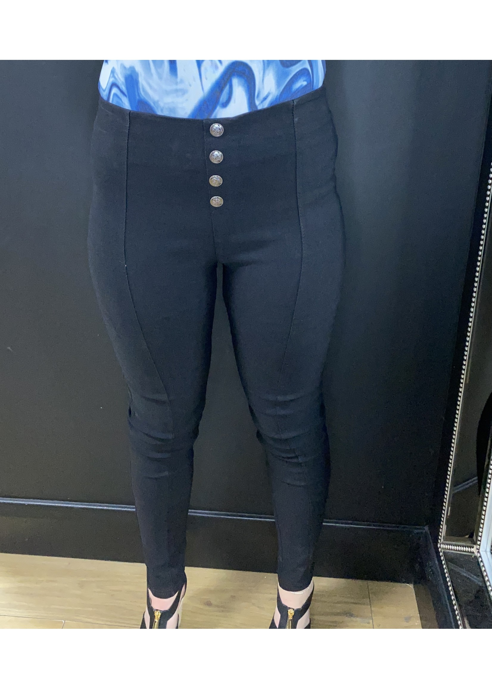 Bethany button jeggings