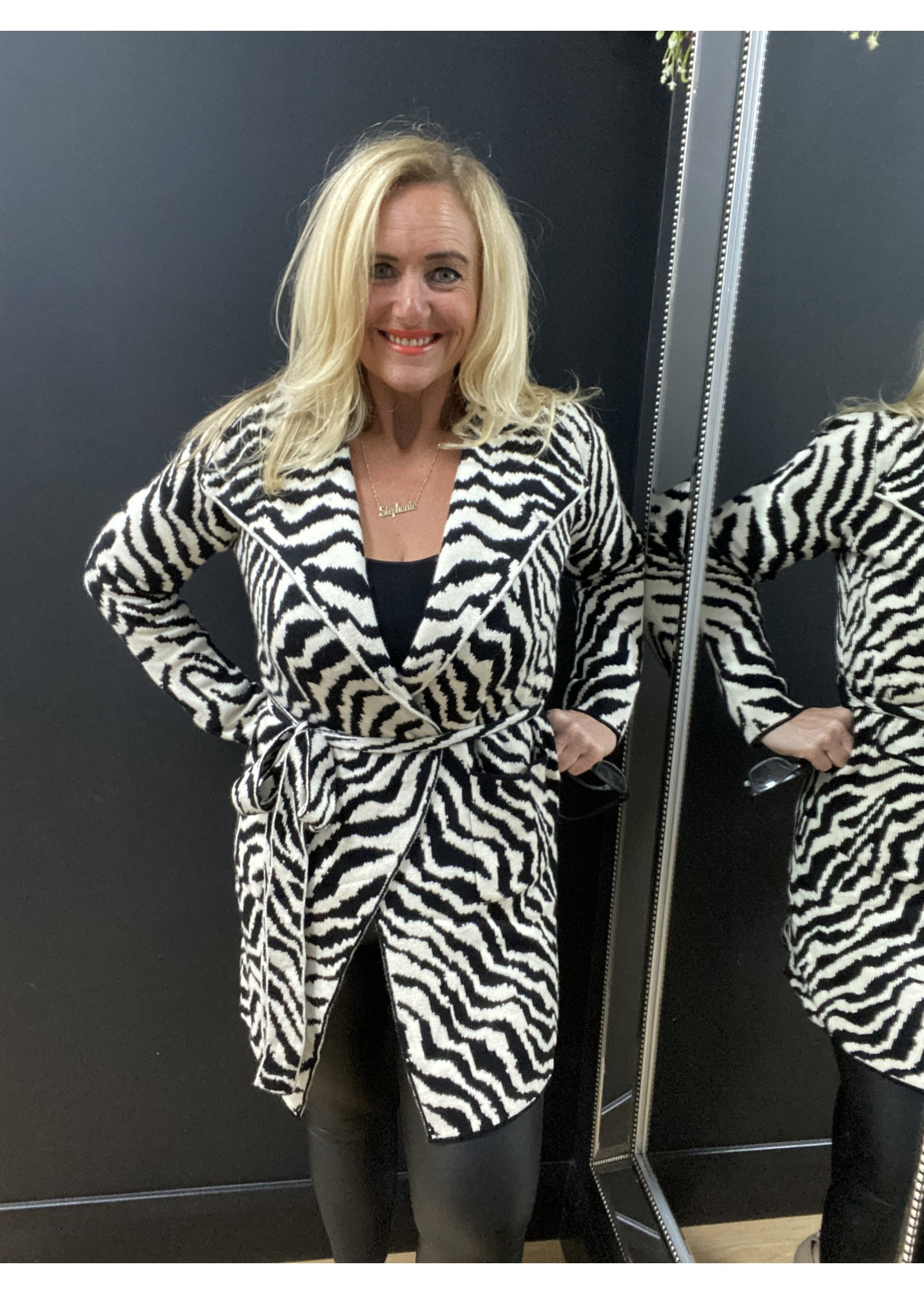 Savannah zebra knitted jacket