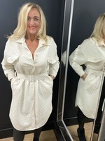 Brandy quilted  coat dress