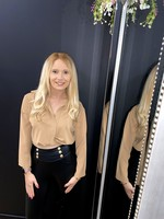 Kayla crop blouse