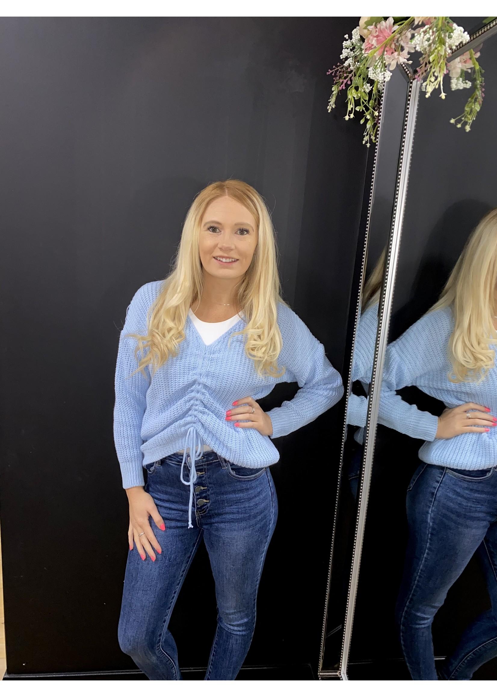 Shaynie chunky knit ruched jumper
