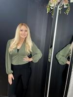 Lauren button waist top