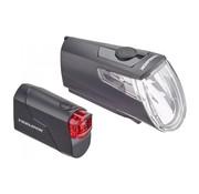 Trelock Verlichtingset LS360 + LS720 I-Go Eco Zwart