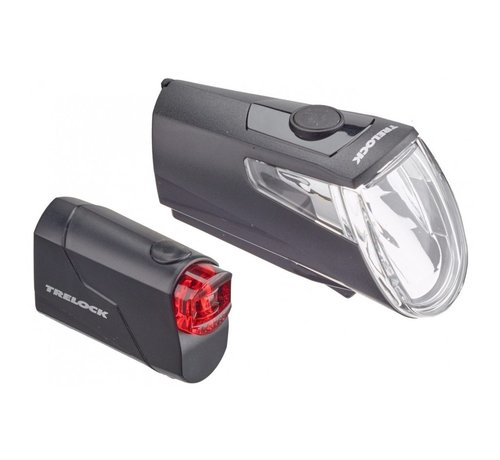 Trelock Trelock Verlichtingset LS360 + LS720 I-Go Eco Zwart