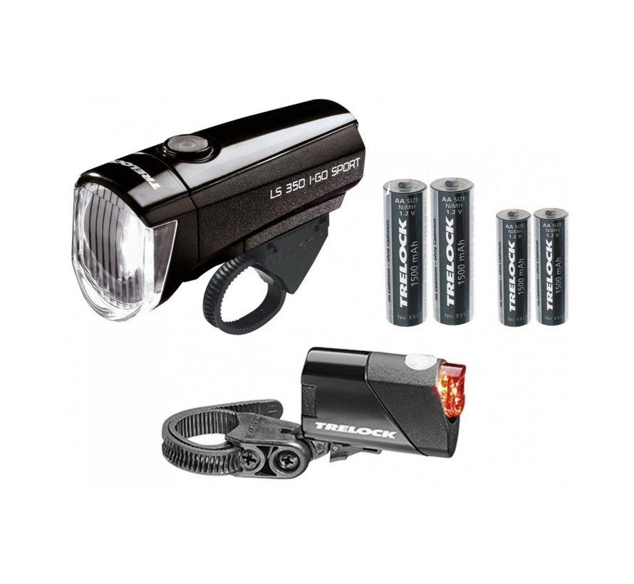 Verlichtingset LS350 + LS710 I-Go Sport Zwart