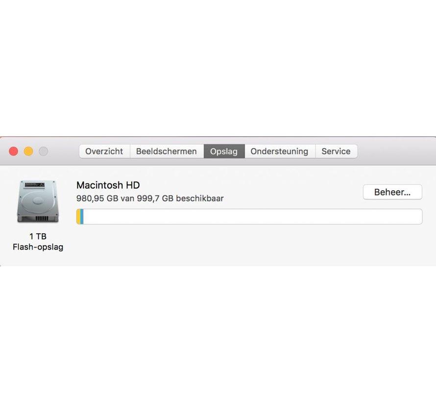 Macbook Pro 15'' Mid 2017 3,1 GHz i7 16GB 1TB Flash Apple Care - Radeon Pro 560 - Zilver