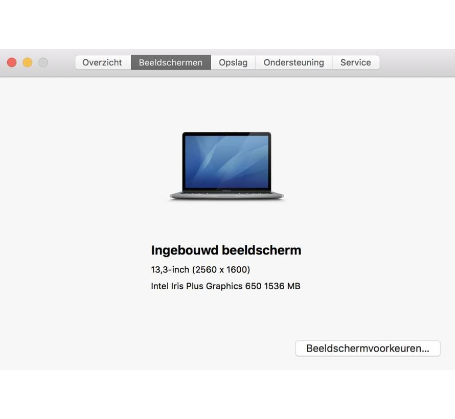 Macbook Pro 13'' Mid 2017 3,1 GHz i5 8GB 512GB Flash Apple Care - Space Grijs