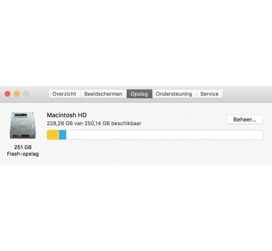 Macbook Pro 13'' Mid 2017 2,3 GHz i5 8GB 256GB Flash Apple Care - Zilver