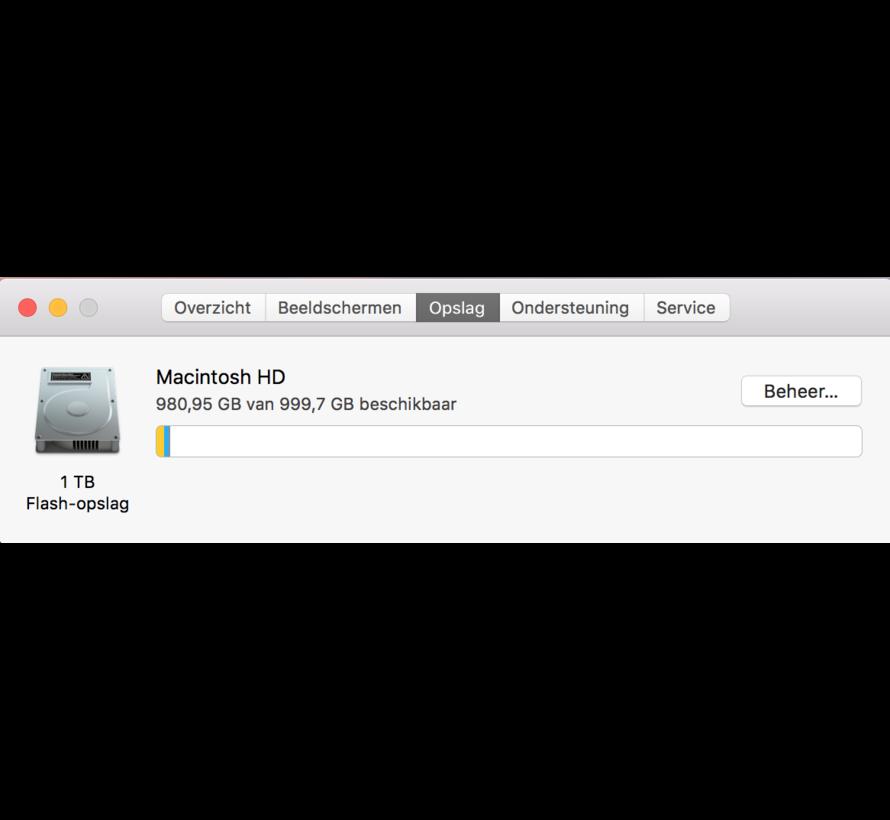Macbook Pro 15'' Mid 2017 3,1 GHz i7 16GB 1TB Flash Apple Care - Radeon Pro 560 - Space Grijs