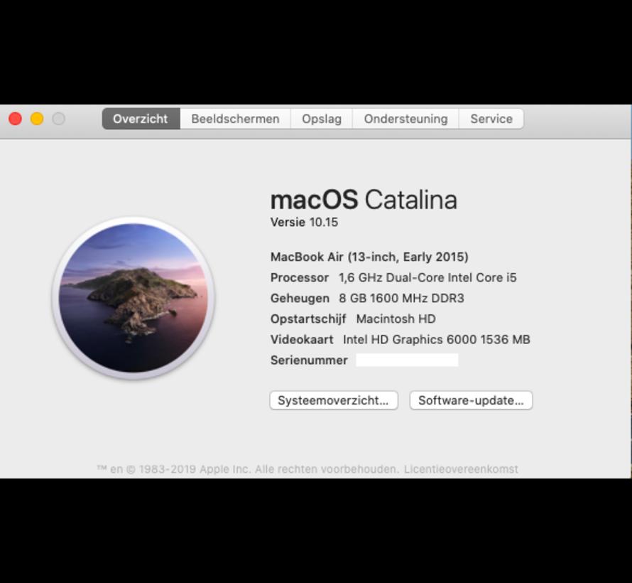 Macbook Air 13'' Early 2015 1,6 GHz i5 8GB 128GB Flash