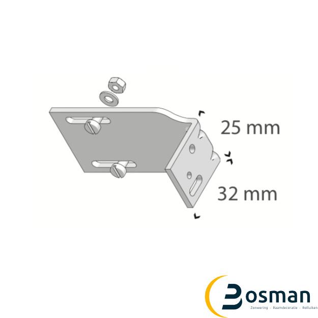 Luxaflex Voorsprongsteun 16/25 mm