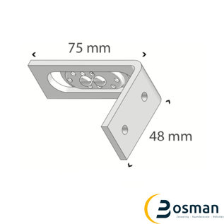 Luxaflex Voorsprongsteun (30-50 mm)