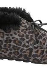 Ruby Brown Mocassin bootie 8886 grijs met leopardprint -/-30%