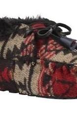 Ruby Brown Mocassin bootie 3831 zwart/rood