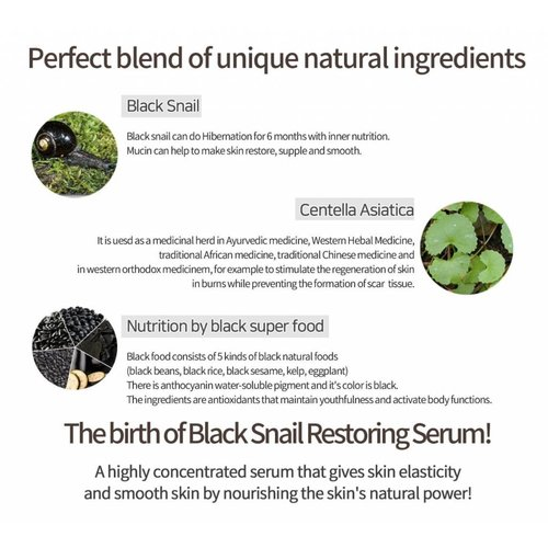 iUNIK Black Snail Restore Serum
