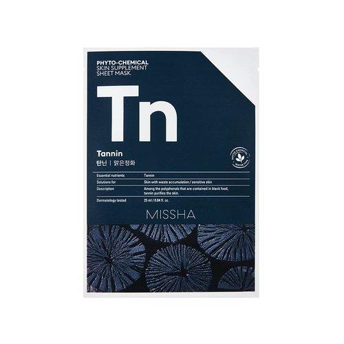 Missha Phytochemical Tannin  Skin Supplement Sheet Mask