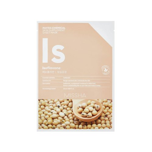 Missha Phytochemical Isoflavone  Skin Supplement Sheet Mask