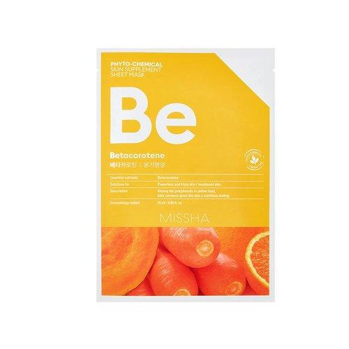 Missha Phytochemical Betacarotene  Skin Supplement Sheet Mask