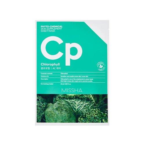Missha Phytochemical Chlorophyll  Skin Supplement Sheet Mask
