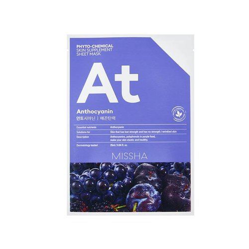 Missha Phytochemical Anthocyanin  Skin Supplement Sheet Mask