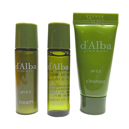d'Alba No Sebum Series 3-Step Travel Kit