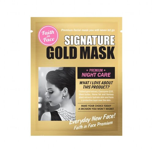 Faith In Face Signature Gold Mask