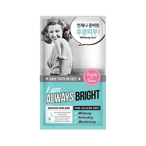 Faith In Face I Am Always Bright Sheet Mask