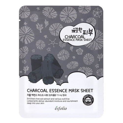 Esfolio Charcoal Essence Sheet Mask