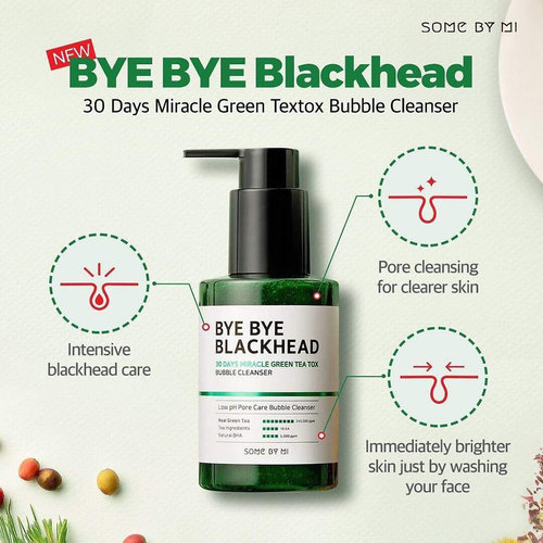 Some By Mi Bye Bye Blackhead 30 Days Miracle Green Tea Tox Bubble Cleanser