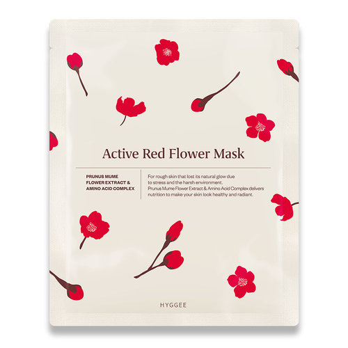 HYGGEE Active Red Flower Mask