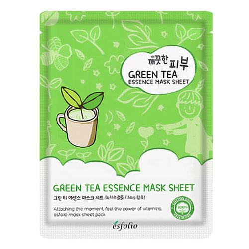 Esfolio Pure Skin Green Tea Essence Sheet Mask