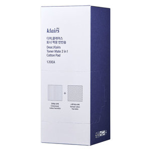 Klairs Toner Mate 2 In 1 Cotton Pad