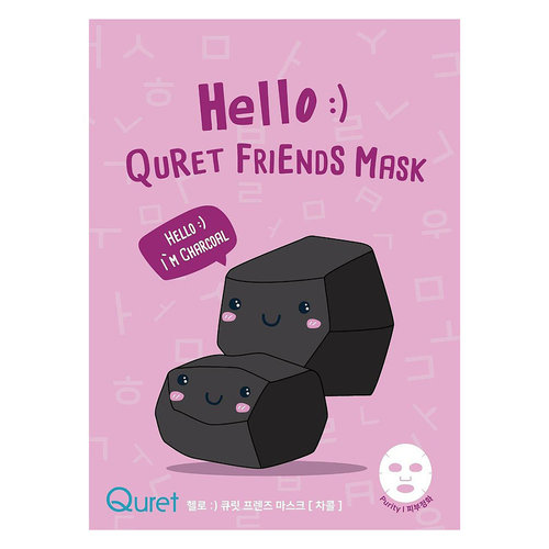 Quret Hello :) Friends Charcoal Mask