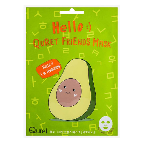 Quret Hello:) Friends Avocado Mask