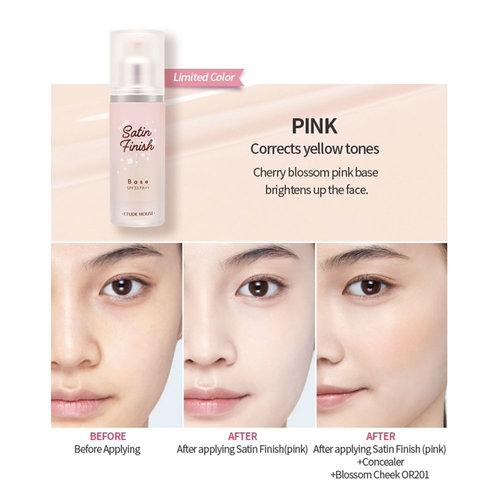 Etude House Satin Finish Base Pink SPF33 PA++