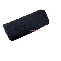 Armkussen zwart badstof