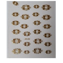 Sticker goud nail art